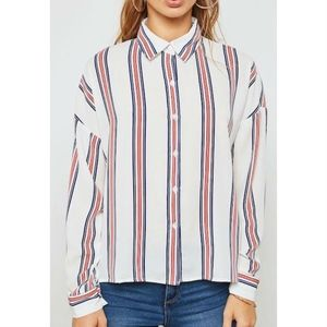 Forever 21 Plus Striped Shirt